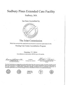 2014 Accreditation Certificate